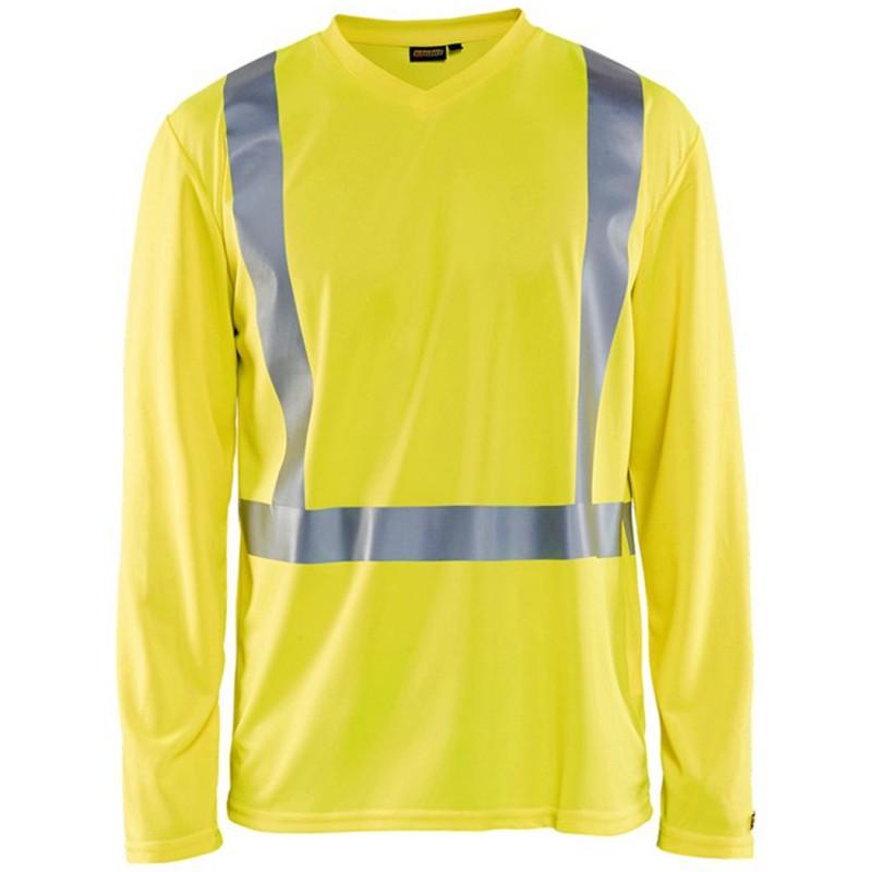 T-shirt manches longues haute visibilité 3383 Blaklader - Traitement anti-odeur