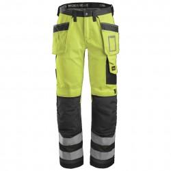 Pantalon de travail haute visibilité avec poches holster, Classe 2 3233 Snickers