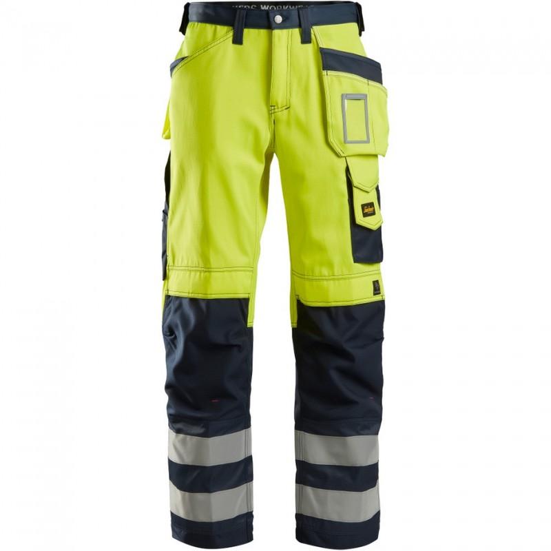 Pantalon haute visibilité avec poches holster, Classe 2 3233 Snickers
