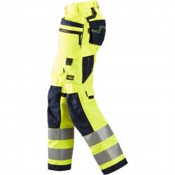 Pantalon+ pour femme AllroundWork avec poches hoster, haute visibilité Classe 2 6730 Snickers