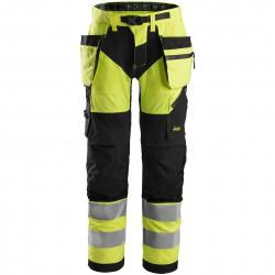 Pantalon FlexiWork haute visibilité avec poches holster, Classe 2 6932 Snickers