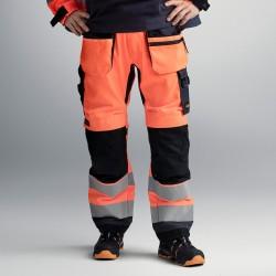 Pantalon+ AllroundWork haute visibilité avec poches holster, Classe 2 6230 Snickers
