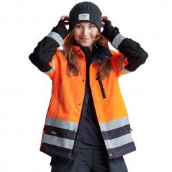 Veste d'hiver pour femme AllroundWork haute visibilité Classe 2/3 1137 Snickers
