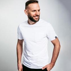 T-shirt de travail coton bio avec poche Dunas Forest Workwear