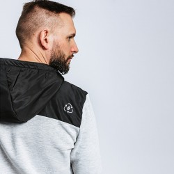 Veste à capuche coton bio zippée et renforts nylon Forest Workwear
