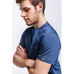 3+1 gratuit T-shirt de travail coton bio avec poche Dunas Forest Workwear