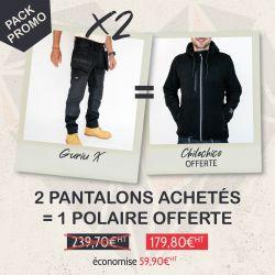 Pack 2 pantalons GURIU X + 1 polaire offerte