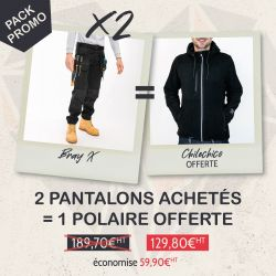 Pack 2 pantalons BRAY X + 1 polaire offerte