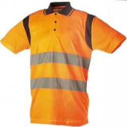 Polo orange fluo EN471