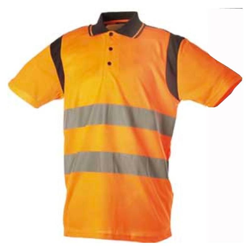 Polo orange fluo EN471