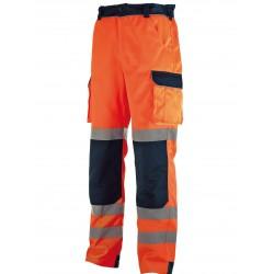 Pantalon de travail coton/poly Haute-Visibilité Thaf