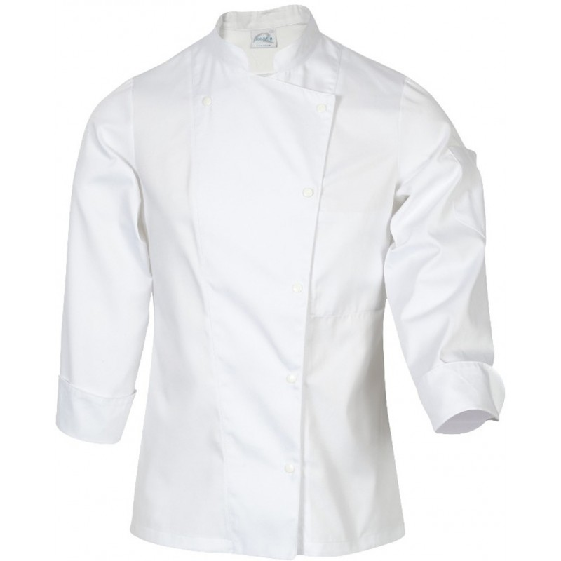 Veste de cuisine femme manille manches longues robur for Robur vetement cuisine