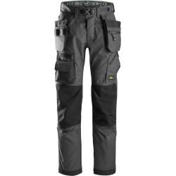 Pantalon pour poseur de sol avec poches holster+, FlexiWork 6923 Snickers Workwear